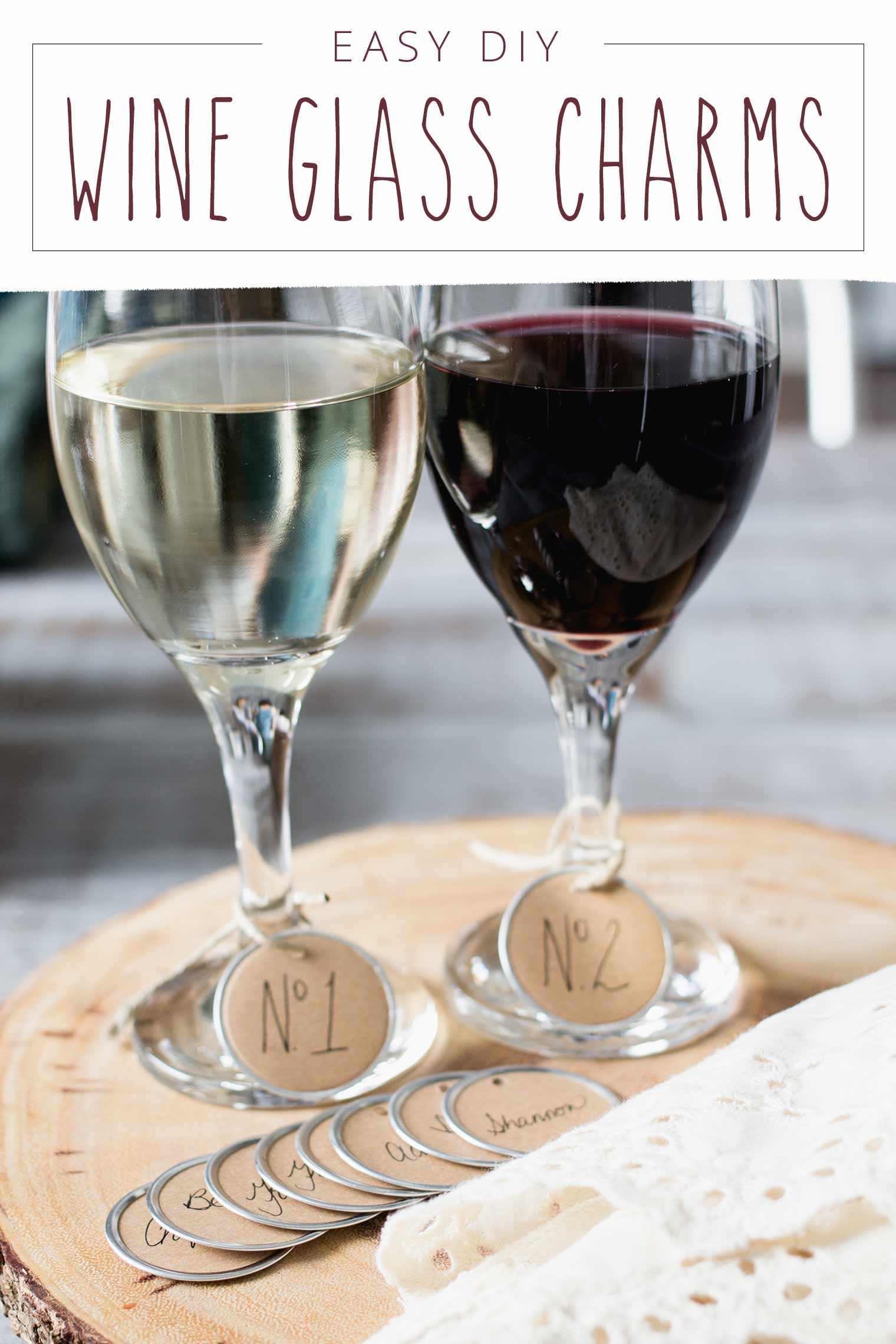 How To Make Easy Custom Personalized Diy Wine Glass Charms Diy Wine Glass Wine Glass Charms Wine Charms Diy