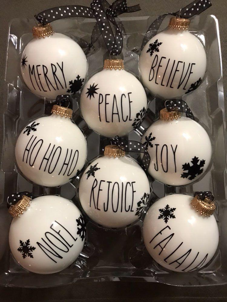 Rae Dunn Inspired Christmas Ornaments Mercari Buy Sell Things
