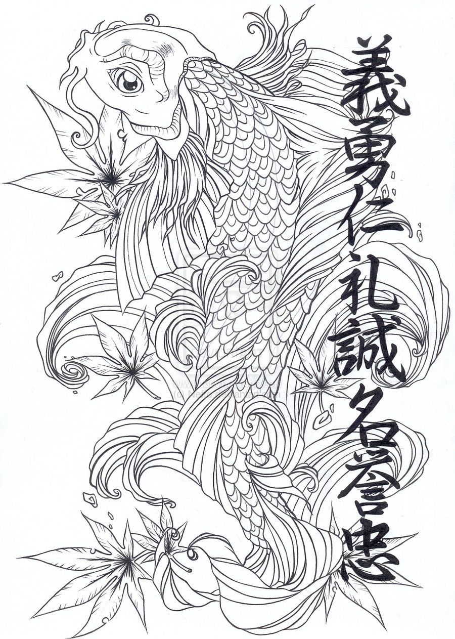 Dragon koi corbeau tattoo pinterest koi tattoo and tatoo koi fish tattoos come in elegant designs izmirmasajfo