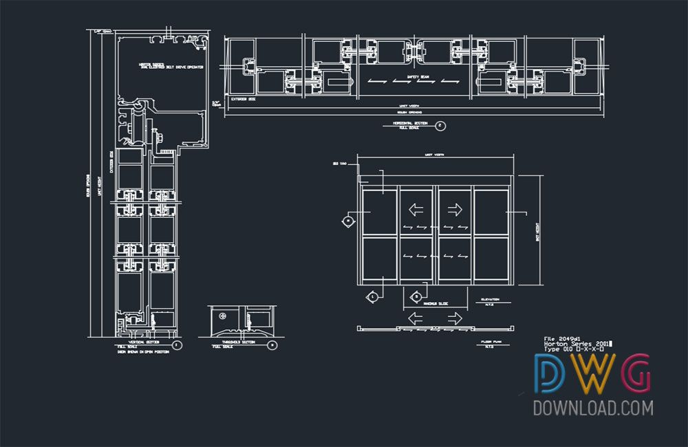 Automatic Sliding Door Dwg Drawings  And about doors details dwg
