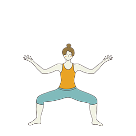 horse pose lotus hands yoga vatayanasana kamalasana