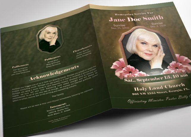 Vintage Funeral Program Template | Best Creative Funeral Program ...