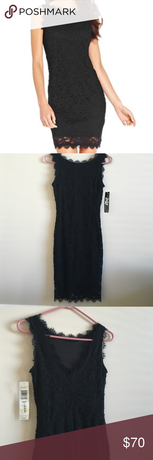 Lace Bodycon Dress V in back, fully lined. Nwt, juniors Small, stretchy enough to fit women's small. Jump Apparel Dresses Mini