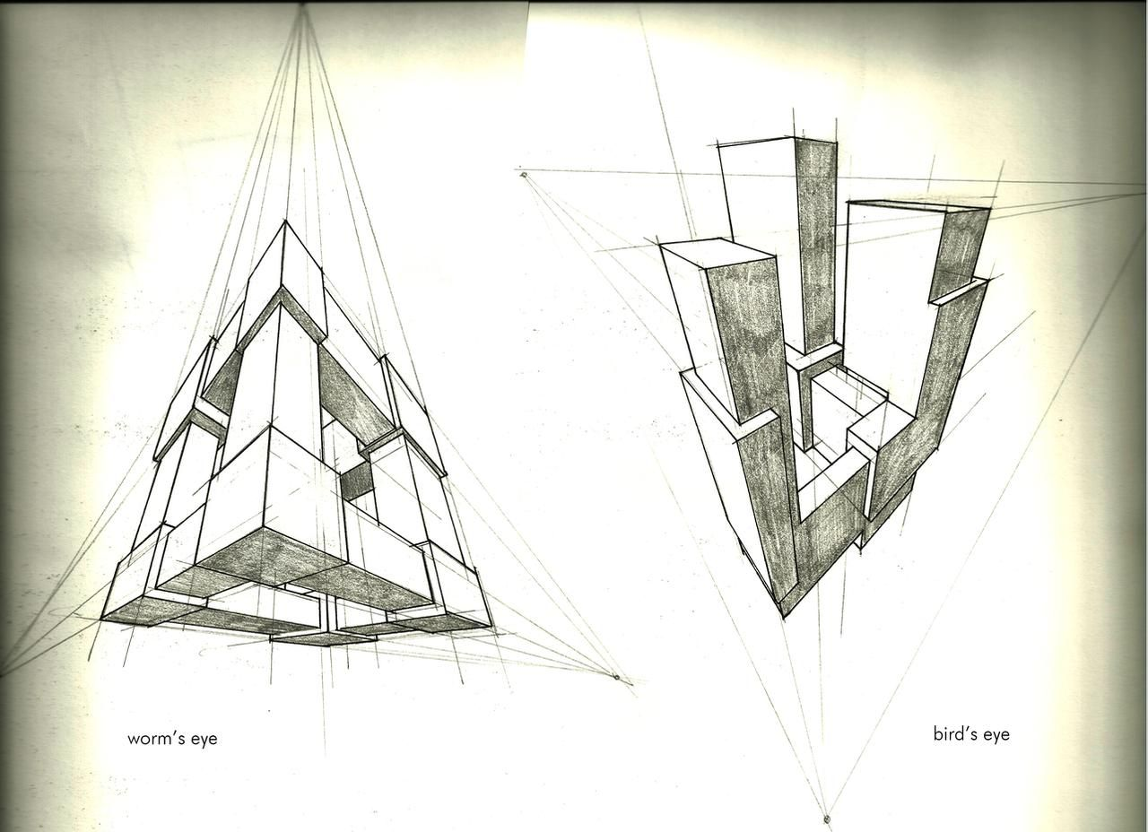 3 Point Perspective Exercise By Tower015 On Deviantart In