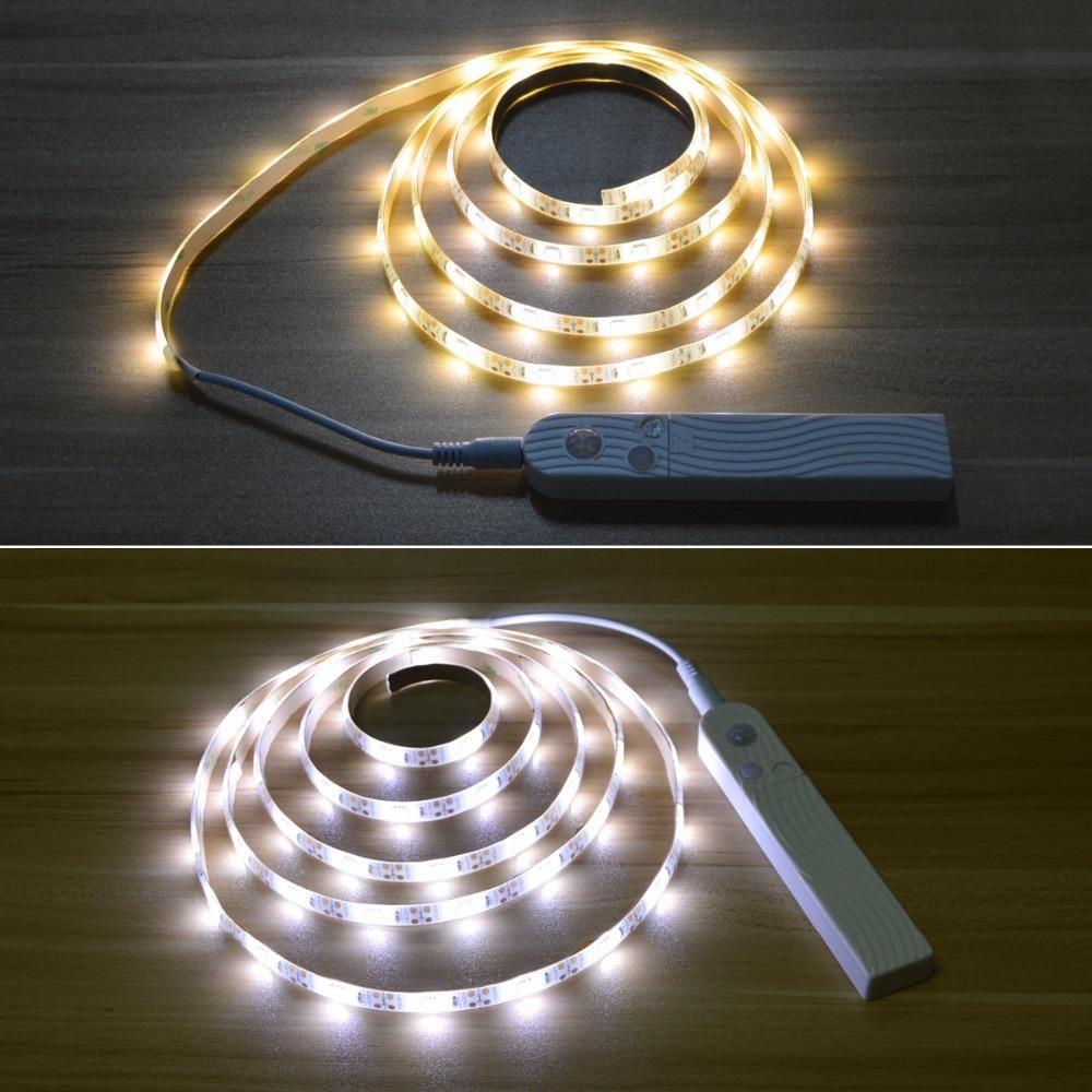 Motion Sensor Night Light Led Strip For Bed Cabinet Closet Wardrobe Stairs Led Night Light Sensor Night Lights Led Light Strips