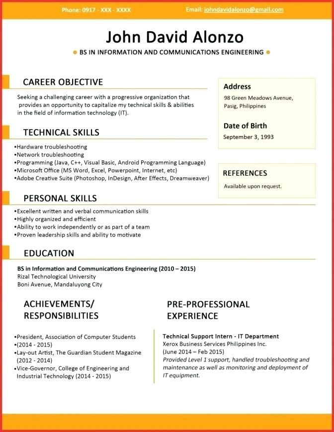 Nice Resume Template Captivating Interesting Resume ...