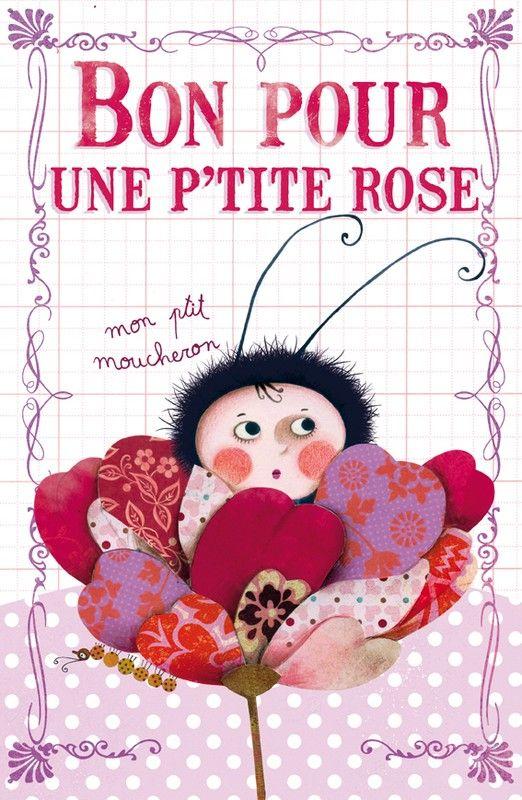 Petite Rose Art Carte Illustrateur Jeunesse Illustration