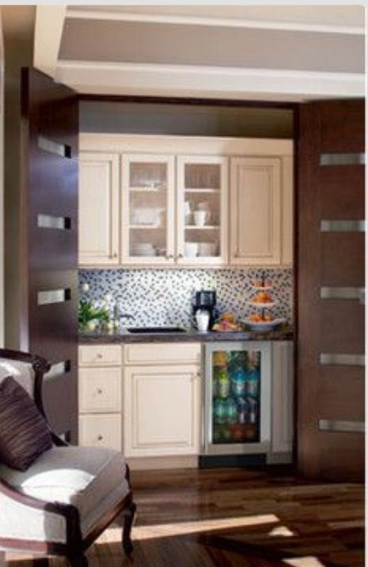 Hidden Kitchenette In Master Suite Master Bedroom Suite Pinterest Kitchenette Mini