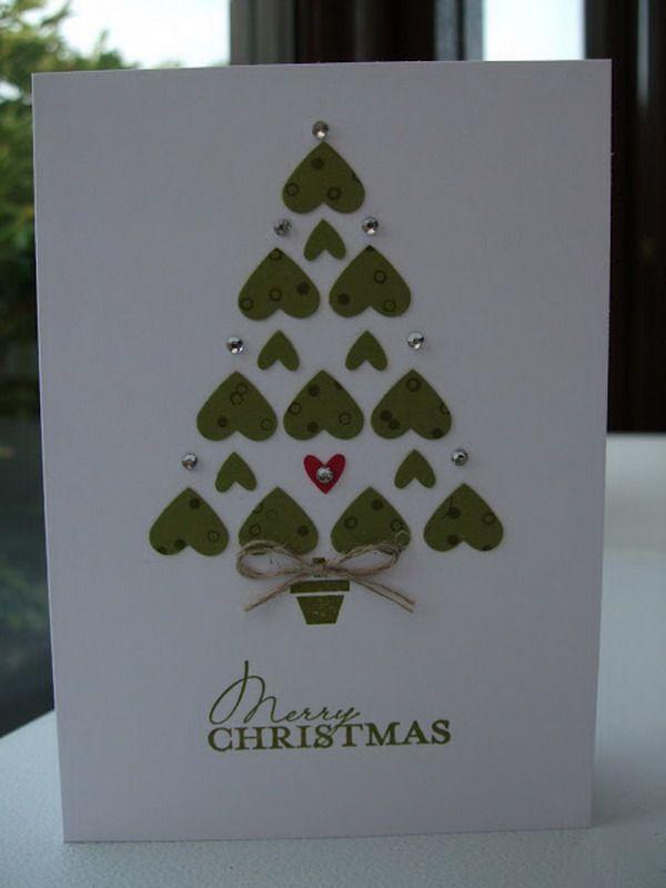 50 Creative Homemade Christmas Cards Showcase Hative Diy Christmas Cards Homemade Christmas Cards Christmas Cards Handmade