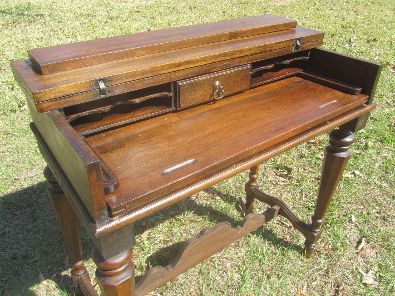 Antique Table Desk, Furniture, Desk, Writing Desk by