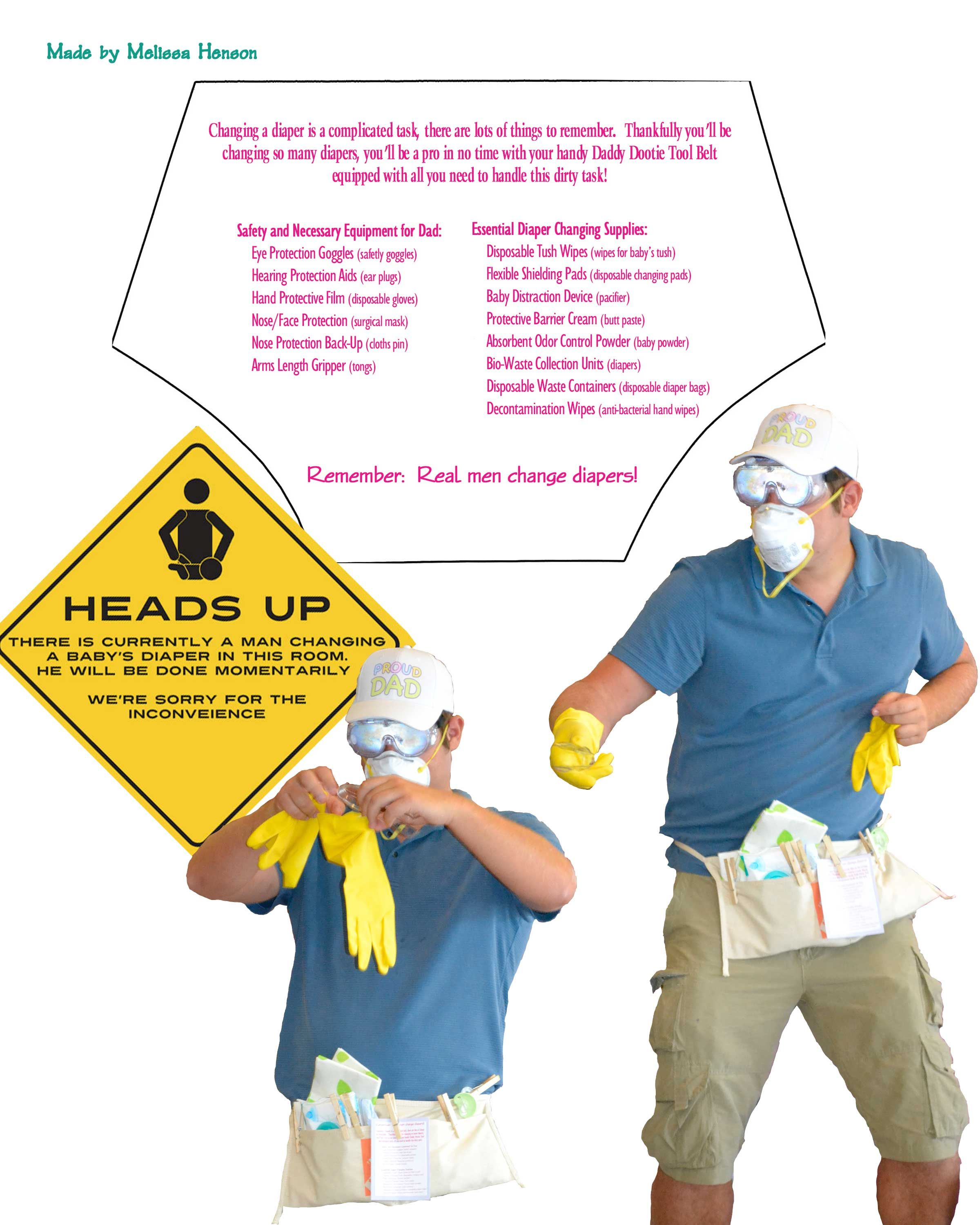 Great gift for new dad! Diaper Changing Tool Belt made by Melissa ...