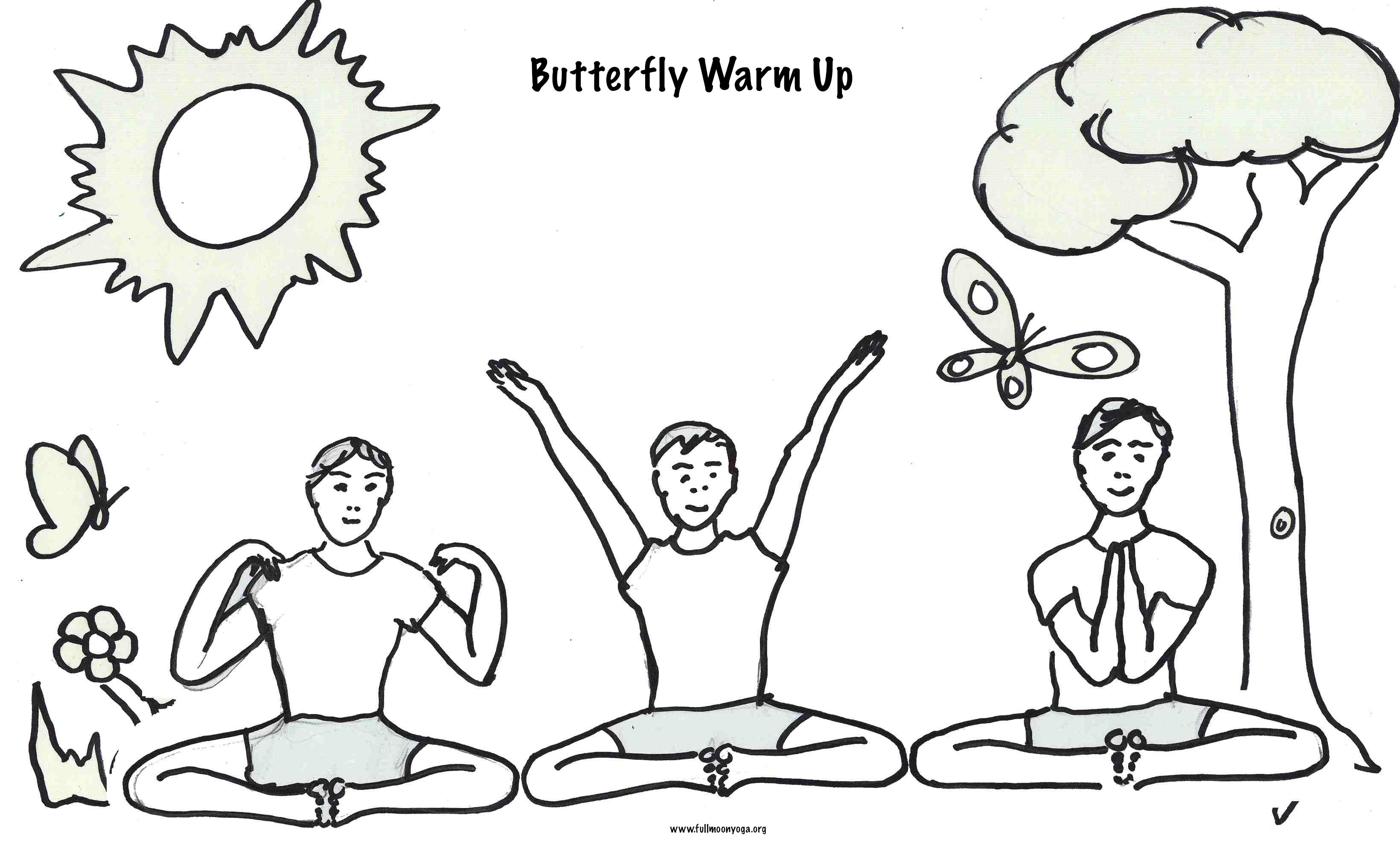 Butterfly Warm Up For Instruction Please Visit Http Full Moon Yoga Com Color Mini Sequences Jp Carousel Childrens Yoga Yoga For Kids Mindfulness For Kids