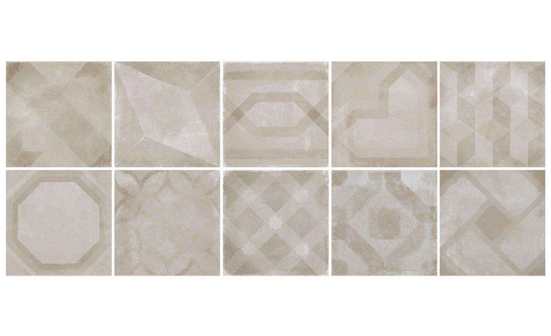 Carrelage Casual Aspect Carreaux De Ciment Decor Beige Dim 20 X