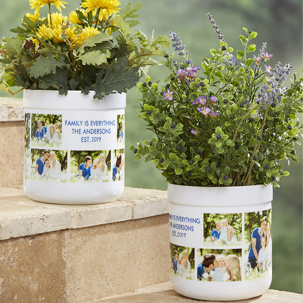 Picture Perfect Personalized Outdoor Flower Pot Flower