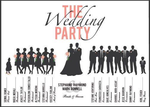 Custom Printable Wedding Party Program Card By DesignsFromMarina