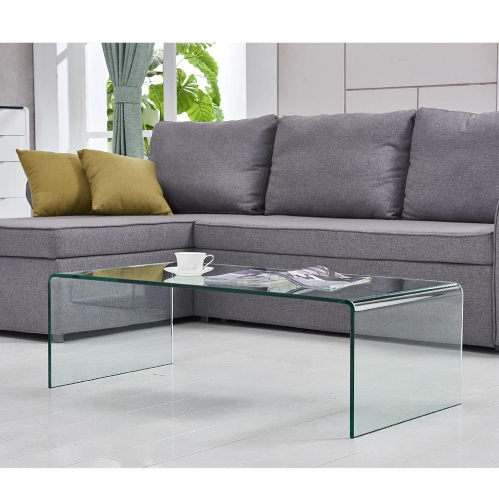 Bent Glass Center Table In Living Room Glass Table Living Room Living Room Table Furniture [ 1000 x 1000 Pixel ]