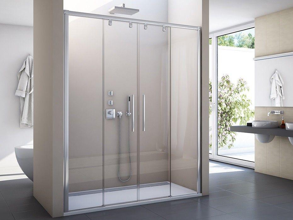 Duschtür 200 x 200 cm Schiebetür Duschkabine, Schiebetür