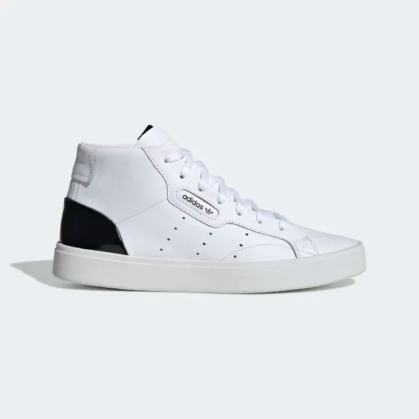 adidas Sleek Mid Shoes - White | adidas US | White adidas ...