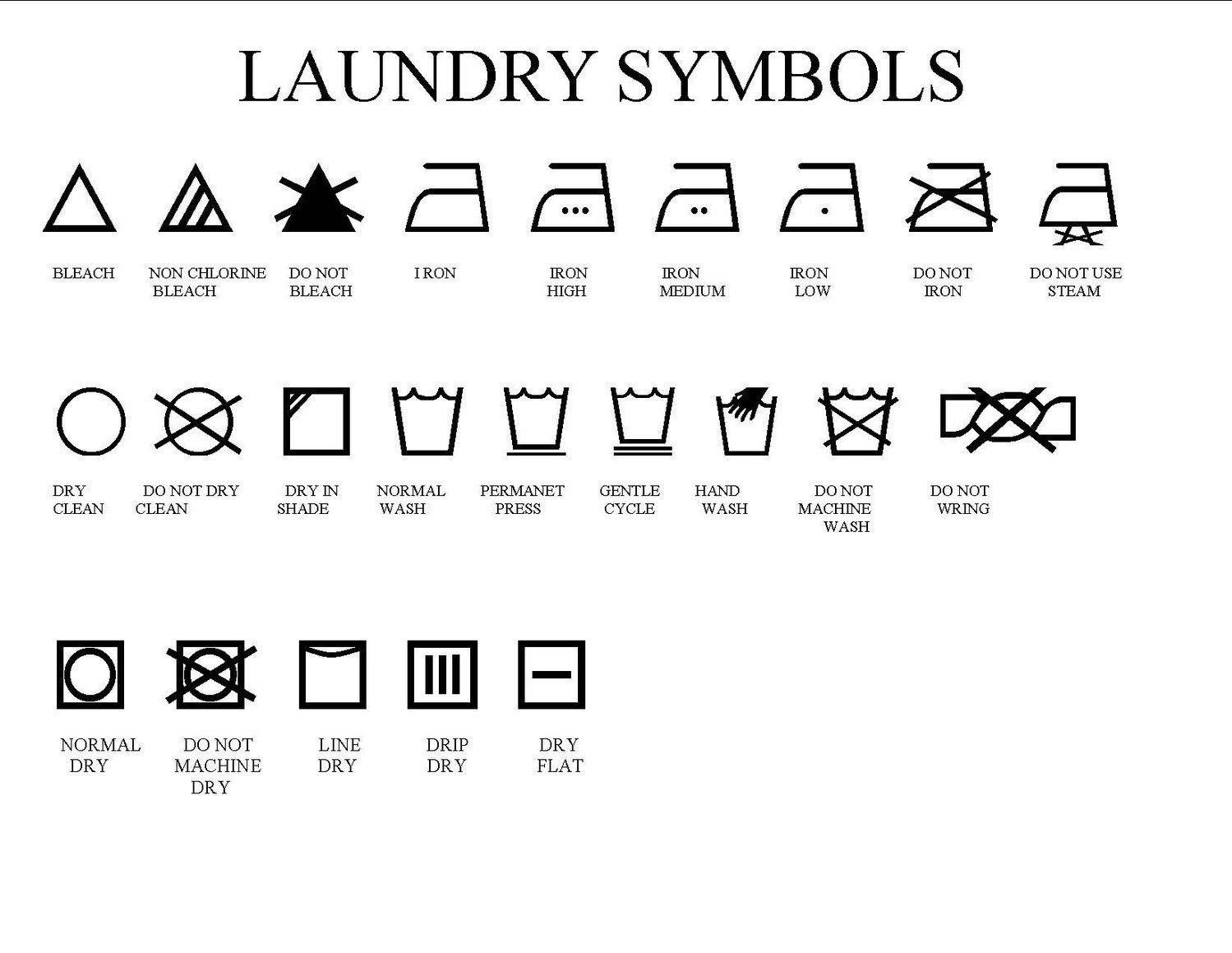 Private Sale Laundry Symbols Set Of 2 Para El Hogar Pinterest