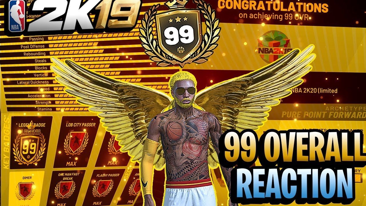 FIRST 99 OVERALL PURE POINT FORWARD IN NBA 2K19 - 99 OVERALL LEGEND