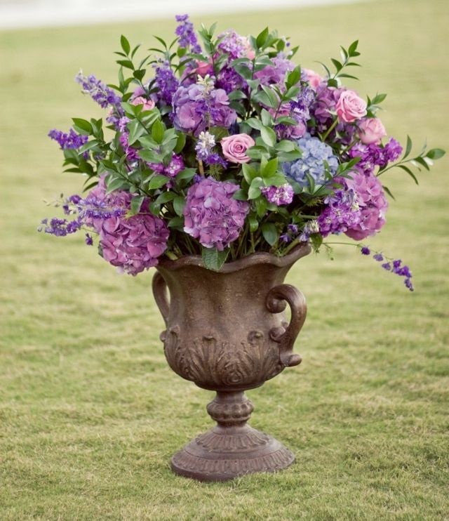 Blumentopf Hortensien Blumengestecke arrangieren Hochzeit ...