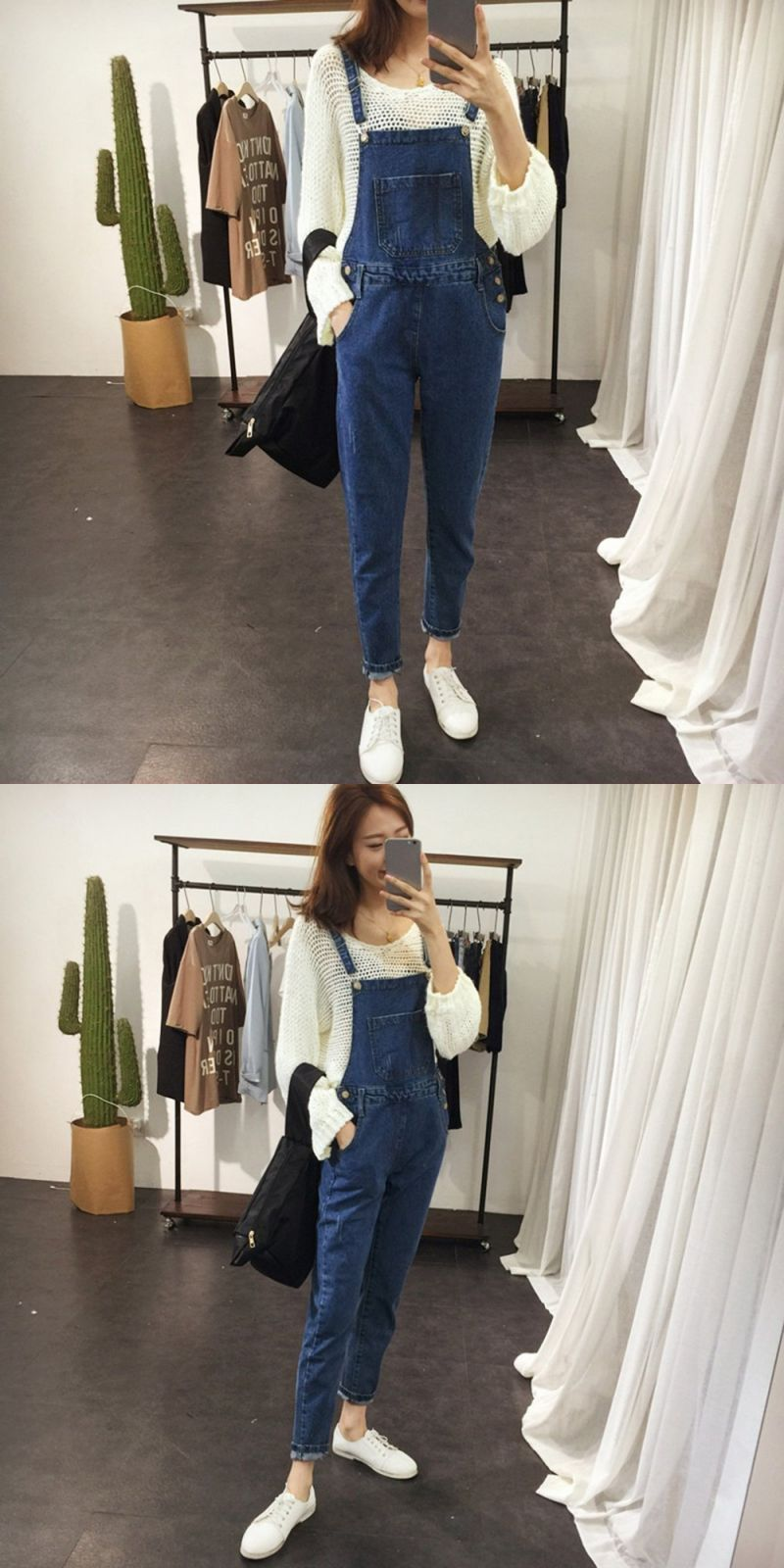 541a55c2dfa Brief denim blue women overalls girls stretchable skinny suspender long  pants casual female romper jumpsuits jeans  cotton