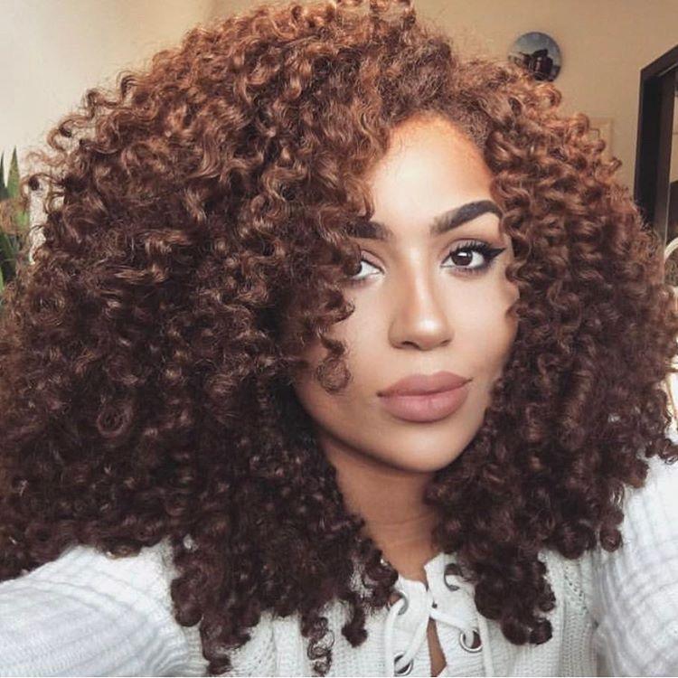 Natural Hair Natural Hair Styles Colored Curly Hair Brown