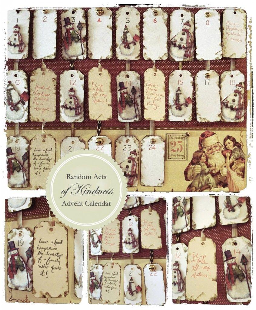 Diy Kindness Calendar : Random acts of christmas kindness diy advent calendar