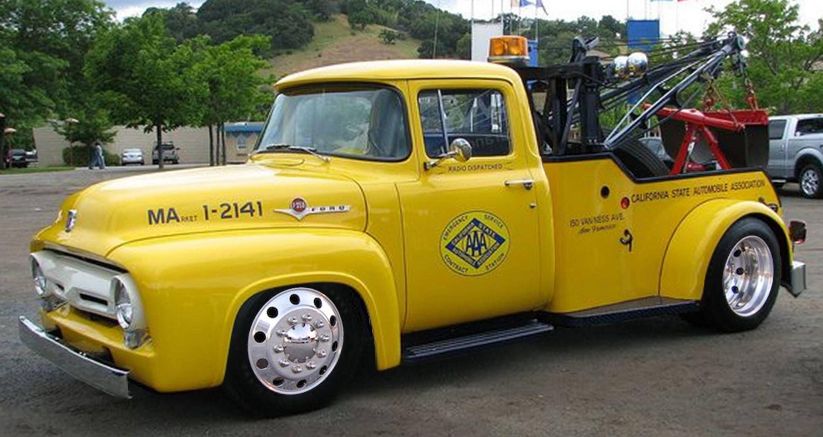 1956 Ford F350 Tow Truck Classic Trucks Ford Trucks Tow Truck