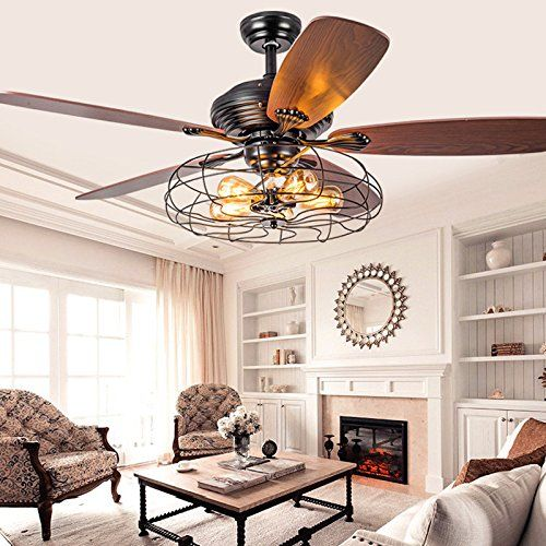 Industrial 42 Fan Semi Flush Ceiling Light Litfad Anti Https