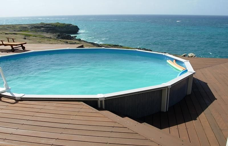 Beautiful even without the view great above ground pool - Beautiful above ground pools ...