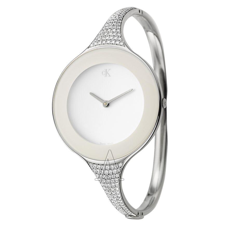 3e5bbdcb8370 Calvin Klein, Mirror, Women's Watch, Stainless Steel Case, Stainless Steel  and Diamonds Bracelet Bangle Type, Swiss Quartz (Battery-Powered), ...