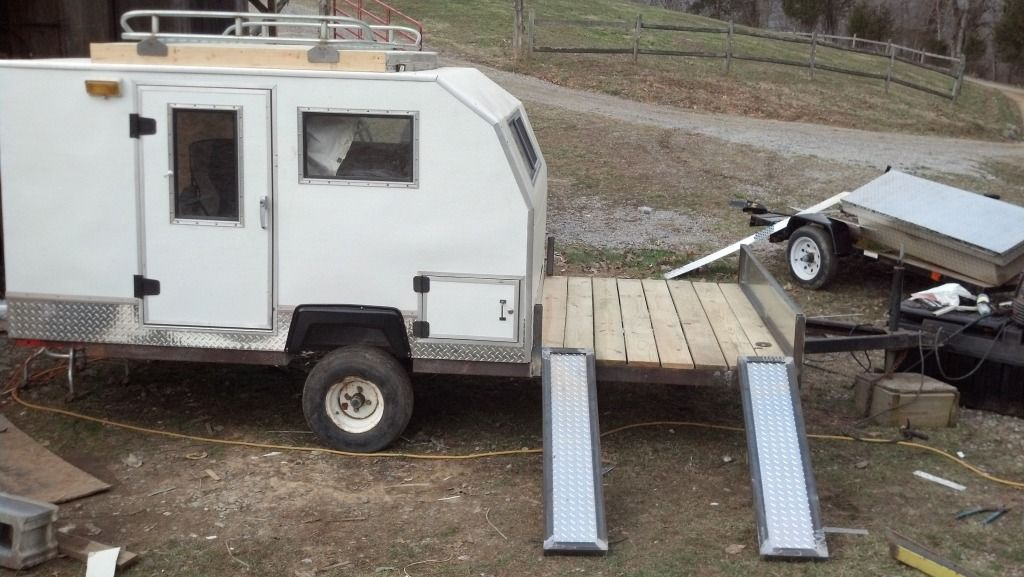 how to build a homemade mini camper trailer