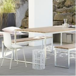 Teakholz-Gartentische #terracegardendesign