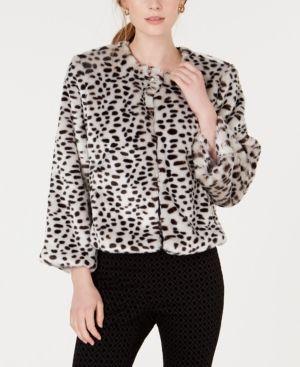 b844a42da5b0 Maison Jules Leopard-Print Faux-Fur Jacket, Created for Macy's - Leopard  Print XL
