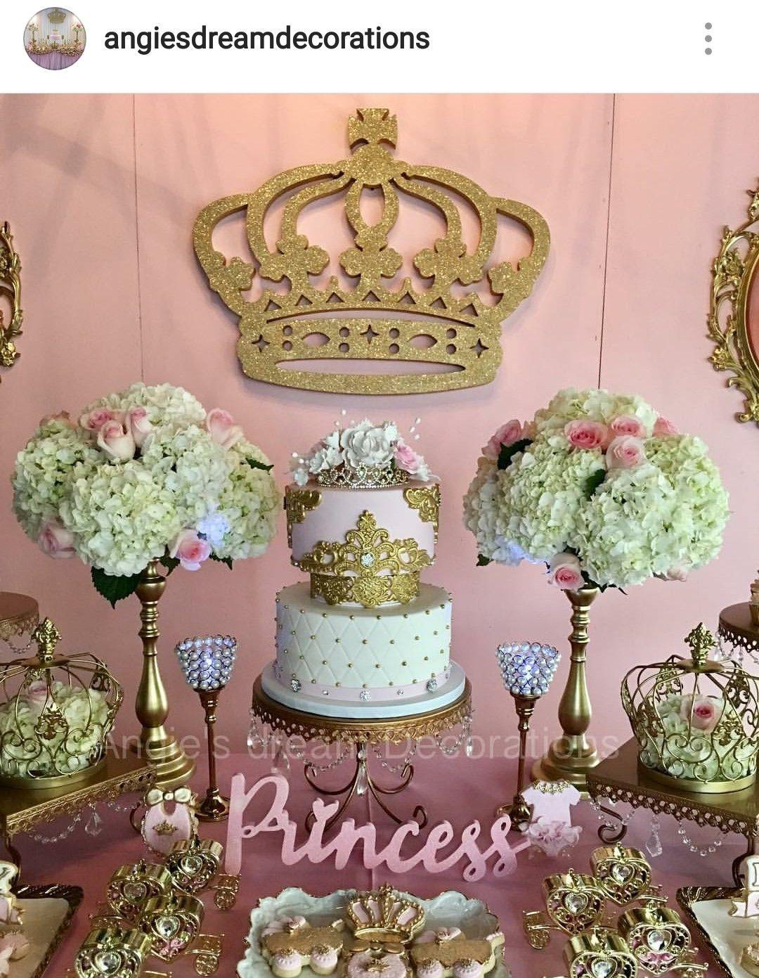 Princess Theme Baby Shower Dessert Table Decor Girl Baby Shower Decorations Royal Baby Shower Theme Girl Girl Shower Decorations