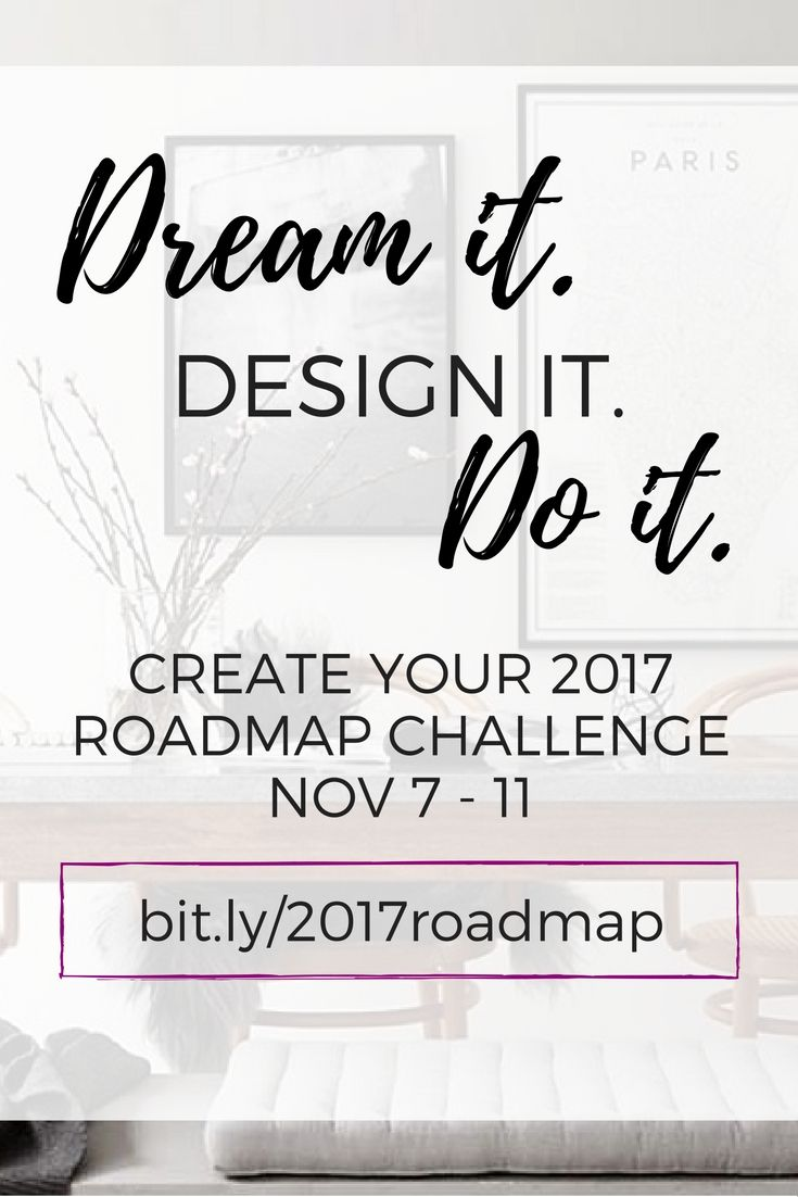 Make 2017 the year you go from overwhelmed to overjoyed. Ready to create your 2017 roadmap to increased health, wealth and impact as an entrepreneur?  Join the FREE 5-day challenge and we'll bring your big vision to life by helping you map out HOW you want to do it. SIGN UP (starts Monday, Nov. 7 but you can join at any time: bit.ly/2017roadmap)