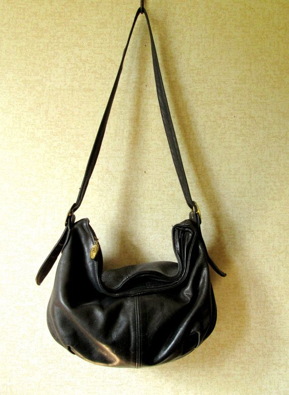 Vintage 80s hobo bag by Stone Mountain. Medium large slouchy shaped shoulder  bag… 8cec2c574b264