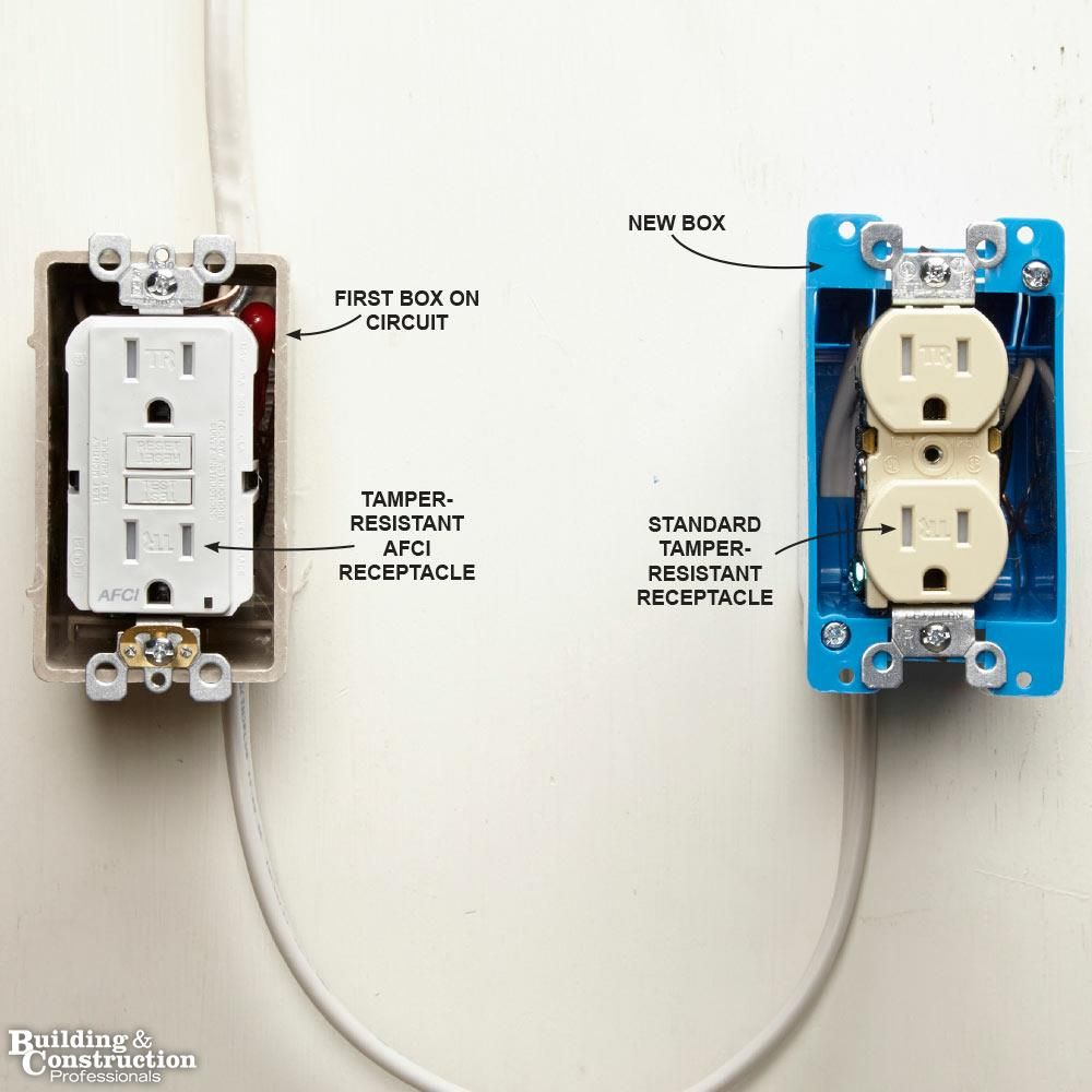 Light Switch Home Wiring Diagram Afci Library Residential Electrical Fires Arcfault Circuit Interrupters Afcis Install An Receptacle At The Source House Hackselectrical