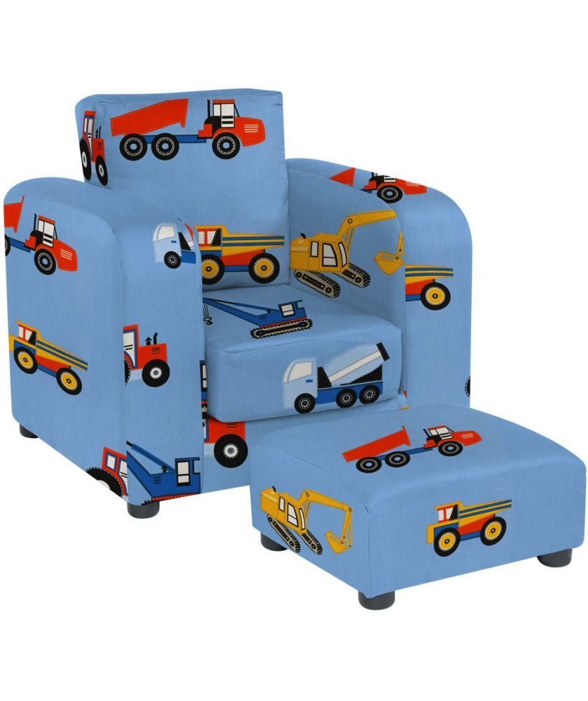 Buy lara childrens chair and footstool set toy trucks