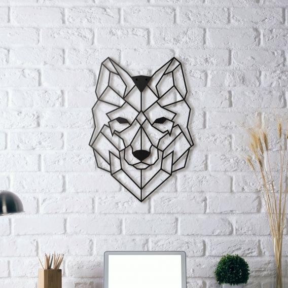 Décoration murale métal dun loup pour un intérieur nature disponible sur artwall and