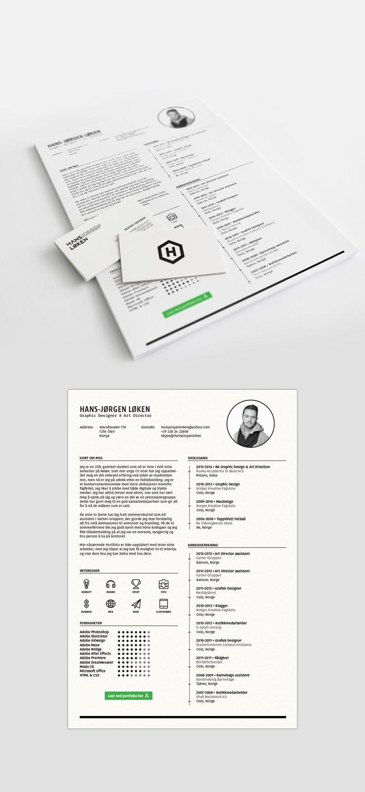 resume template / CV by HansJørgen Løken