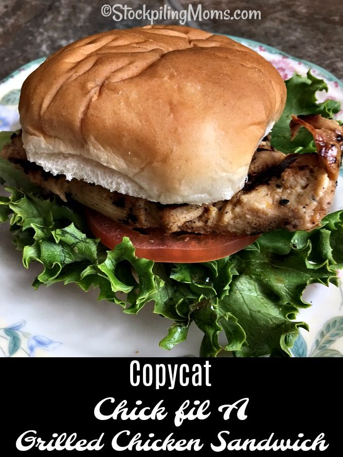 Photo of Copycat Chick fil A Grilled Chicken Sandwich