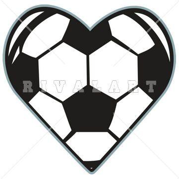 Heart Shaped Soccer Ball Clip Art Clipart Free Clipart Free Clip Art Clip Art Soccer Ball