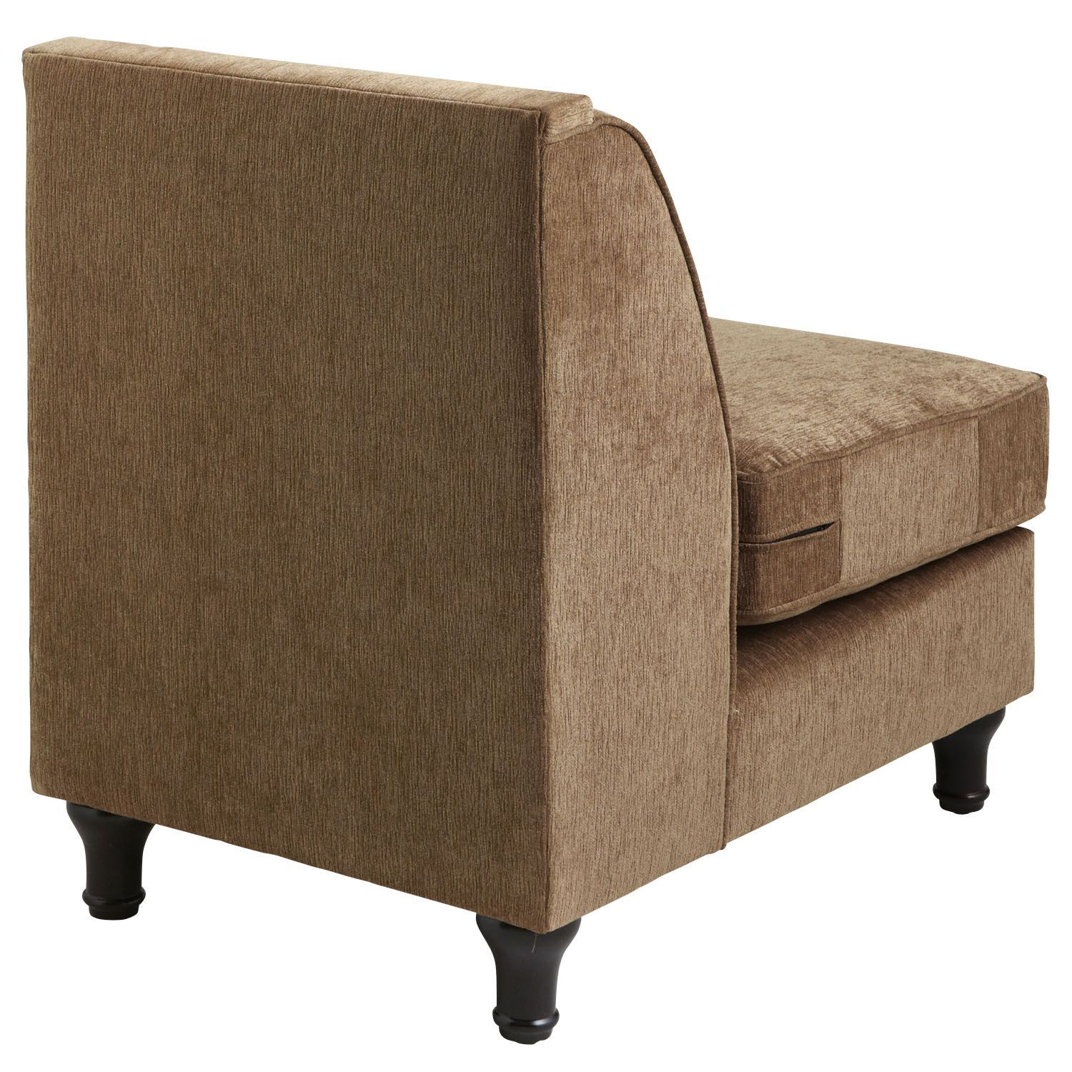 Carmen Toasted Pecan Brown Armless Chair