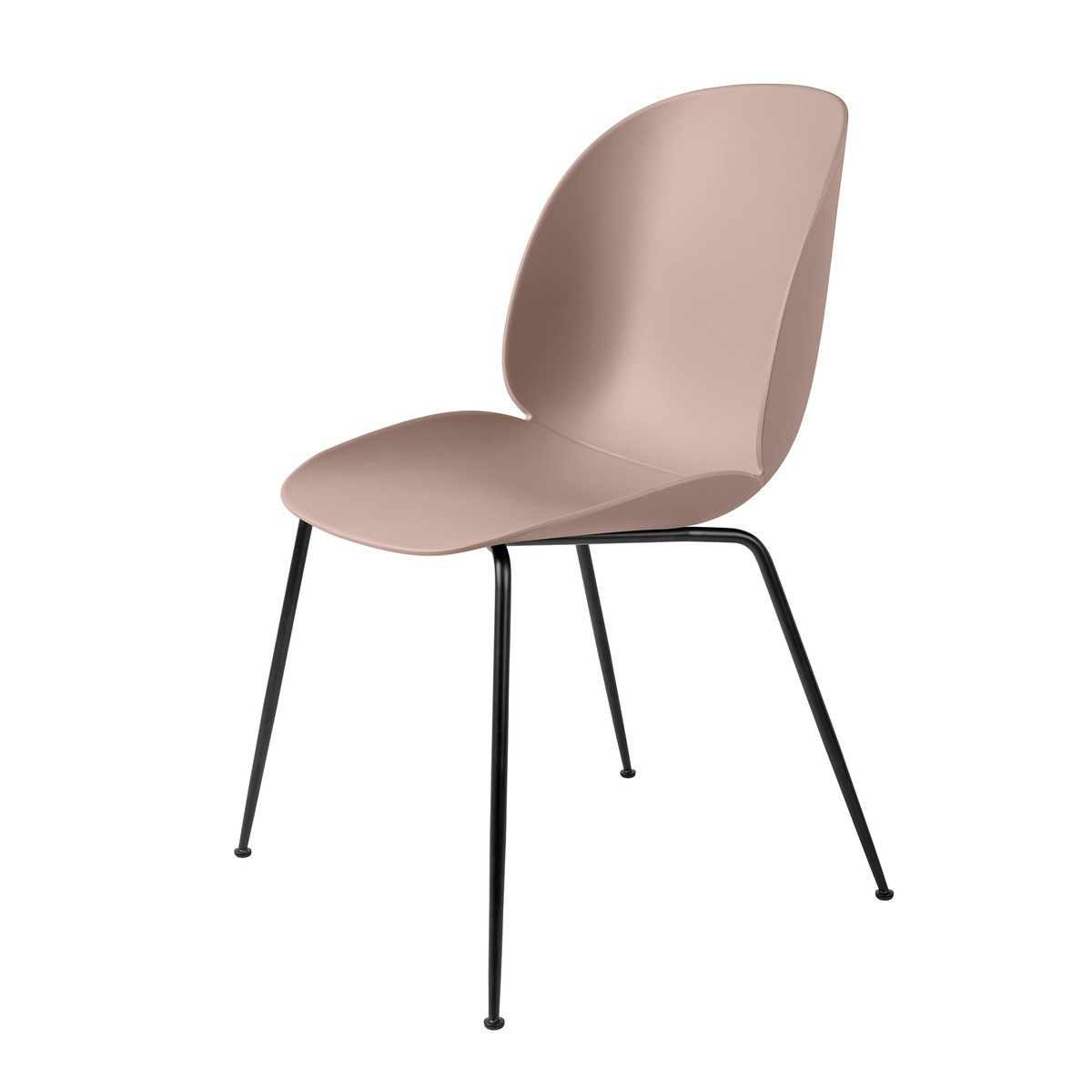 Gubi Beetle Dining Chair, Conic Base schwarz sweet pink