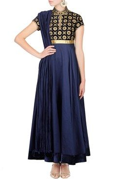 Featuring an indigo anarkali with silk velvet and hand embroidered aari work bodice and chanderi silk ghera . It comes with a plain indigo dupatta By ROHIT BAL. Shop now at www.carmaonlineshop.com. #carma #carmaonline  #indian #designer #ROHITBAL #luxuary #instyle #couture ##ethnic  #indianwear  #fashiondiary #fashiondaily #bride #smile #love #elegance #loveforonlineshopping #shopnow #happyshopping
