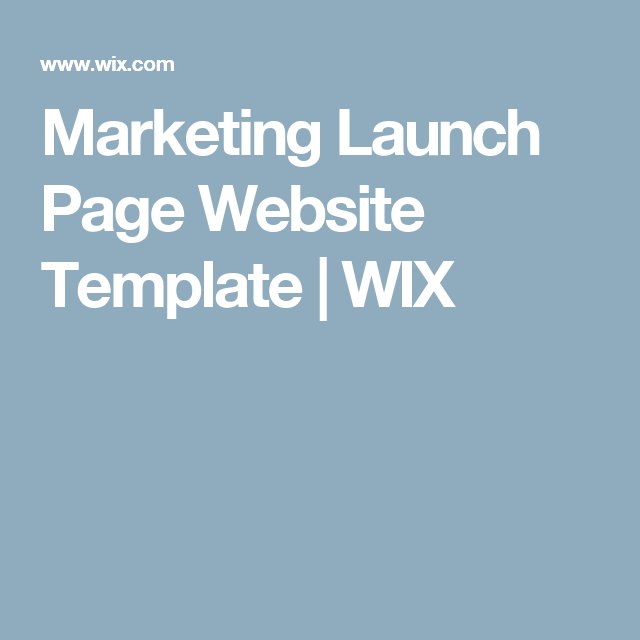 Marketing Launch Page Website Template | WIX | Photoshoot ...