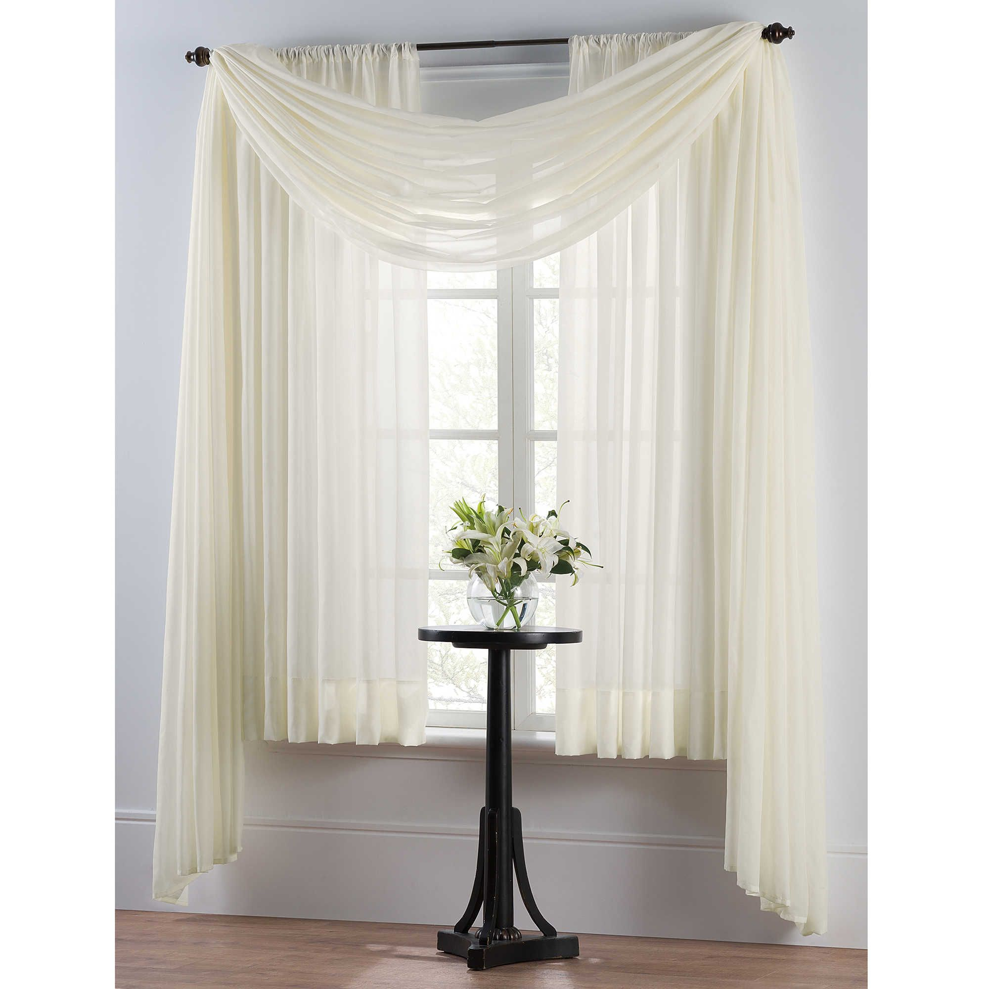 Smart sheer insulating voile window curtain panel house for Window voiles