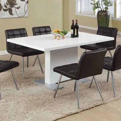 monarch specialties i 1090 high gloss dining table desks tables rh pinterest com